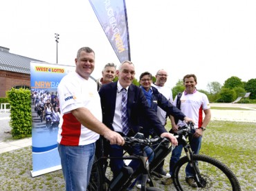 NRW-Radtour: Promotiontour macht Stopp an der Rohrmeisterei