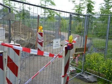 Rad- und Fußweg hinter Theile bis Dienstag gesperrt