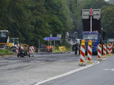Bauarbeiten haben begonnen: A45-Auffahrt Richtung Frankfurt ist dicht