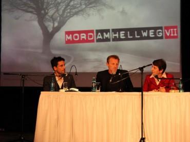 Jo Nesbo und Oliver Mommsen bei der großen Abschlussgala Mord am Hellweg in der Rohrmeisterei