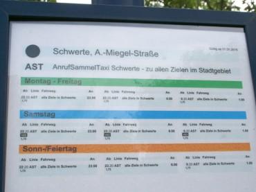 Stadt vergaß Haltestellenschild: Bei Agnes Miegel halten bis Mitte 2016 noch die Busse