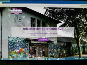 ASS-Elterninitiative kämpft nun auch im Internet für den Standort Wittekindestraße