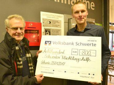 Rewe Filips machte es möglich: 800 Euro für den Arbeitskreis Asyl