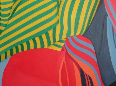Ausstellung in der Stadtbücherei: Landschaften aus Farben und Mustern