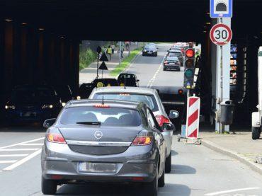Bahnhofsunterführung: Halbseitige Sperrung macht keine Probleme