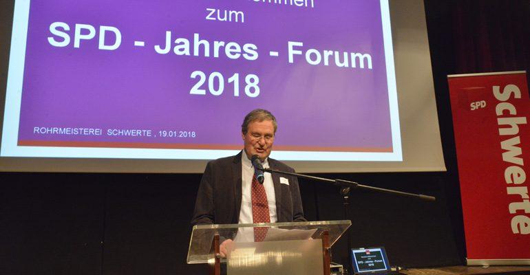 Jahresforum 2018: SPD grenzt sich scharf vom politischen Gegner ab