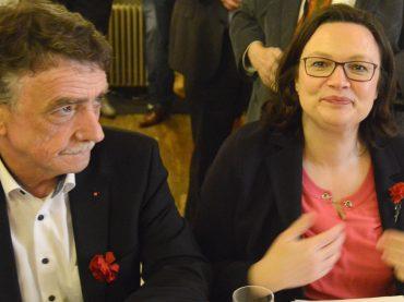 Politischer Aschermittwoch der SPD mit Andrea Nahles und Seitenhieben auf die CDU