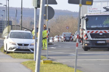 Fußweg wurde eingerichtet: Verkehrsstörungen an der Ruhrbrücke