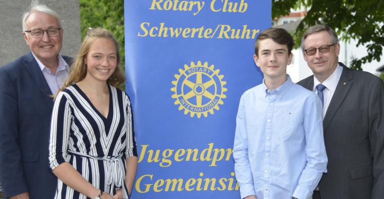 Jugendpreis Gemeinsinn geht an Hannah Schmidt und Lukas Pohland
