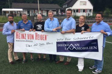Dieckmann Immobilien wird neuer Sponsor des Ergster Waldstadions