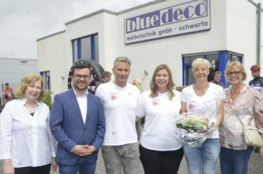 15 Jahre blue-deco: Auch der Bürgermeister gratulierte