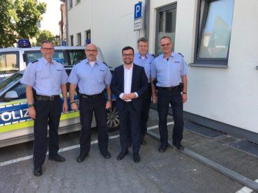 Bürgermeister auf Besuch bei der Polizei