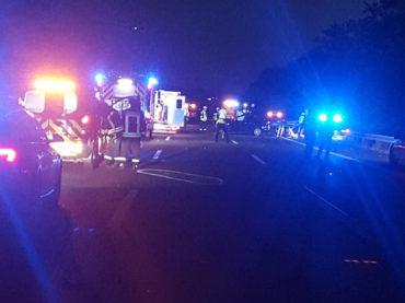 Unfall auf der A1 mit fünf Pkw und zwölf Verletzten