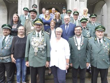 Vor dem Schützenfest: Rat und Verwaltung empfingen die Heideschützen