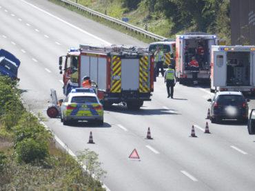 Kurz vor Schwerte: Unfall auf der A1