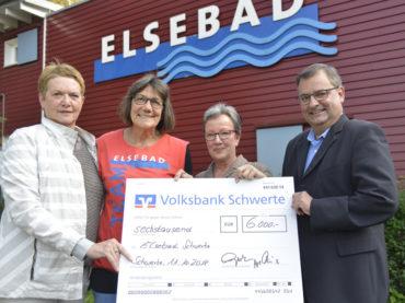 GWG spendet 6000 Euro an das Elsebad
