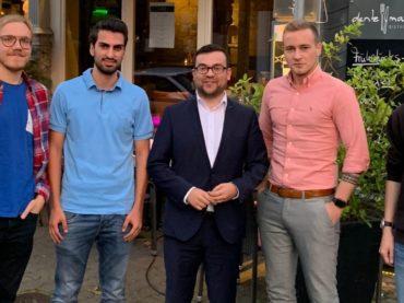 Junge Liberale trafen Bürgermeister Dimitrios Axourgos
