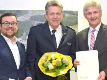 40 Jahre Polizist: Jörg Przystow wurde ausgezeichnet
