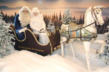 Fotos mit Santa Blue und Engelchen