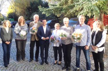 Jubiläen und Ruhestand: Stadt bedankt sich bei Mitarbeiterinnen und Mitarbeitern