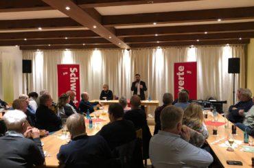 Thomas Kuschaty Gast der Schwerter SPD