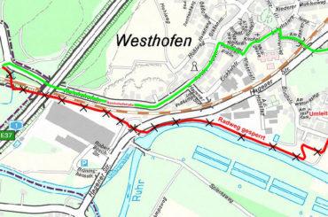 Ruhrtalradweg wird 12 Tage gesperrt